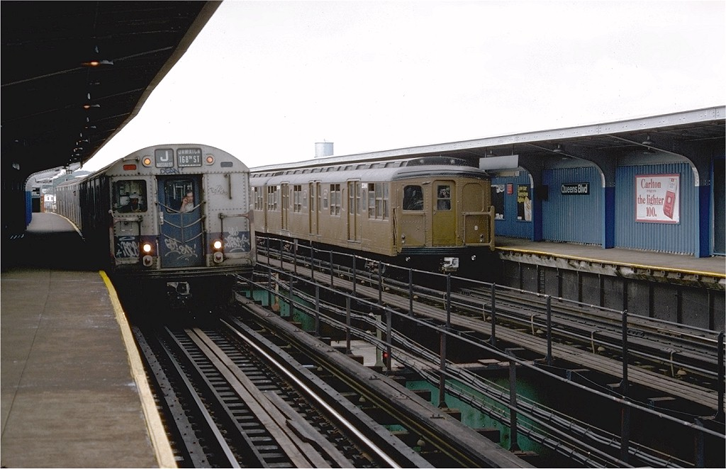 (181k, 1024x662)<br><b>Country:</b> United States<br><b>City:</b> New York<br><b>System:</b> New York City Transit<br><b>Line:</b> BMT Nassau Street/Jamaica Line<br><b>Location:</b> Queens Boulevard (Demolished) <br><b>Route:</b> Fan Trip<br><b>Car:</b> BMT A/B-Type Standard 2390 <br><b>Photo by:</b> Doug Grotjahn<br><b>Collection of:</b> Joe Testagrose<br><b>Date:</b> 9/10/1977<br><b>Viewed (this week/total):</b> 3 / 5579