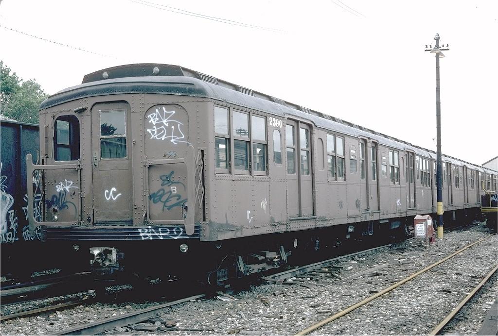 (216k, 1024x692)<br><b>Country:</b> United States<br><b>City:</b> New York<br><b>System:</b> New York City Transit<br><b>Location:</b> 36th Street Yard<br><b>Car:</b> BMT A/B-Type Standard 2390 <br><b>Photo by:</b> Steve Zabel<br><b>Collection of:</b> Joe Testagrose<br><b>Date:</b> 6/7/1982<br><b>Viewed (this week/total):</b> 0 / 3847