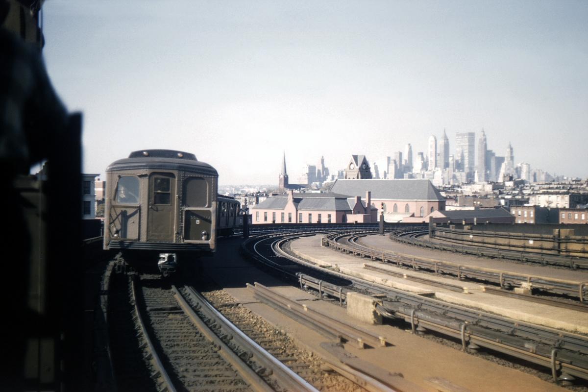 (391k, 1044x720)<br><b>Country:</b> United States<br><b>City:</b> New York<br><b>System:</b> New York City Transit<br><b>Line:</b> IND Crosstown Line<br><b>Location:</b> Smith/9th Street <br><b>Route:</b> Fan Trip<br><b>Car:</b> BMT A/B-Type Standard 2390/2391/2392 <br><b>Collection of:</b> David Pirmann<br><b>Date:</b> 10/16/1965<br><b>Viewed (this week/total):</b> 1 / 5160