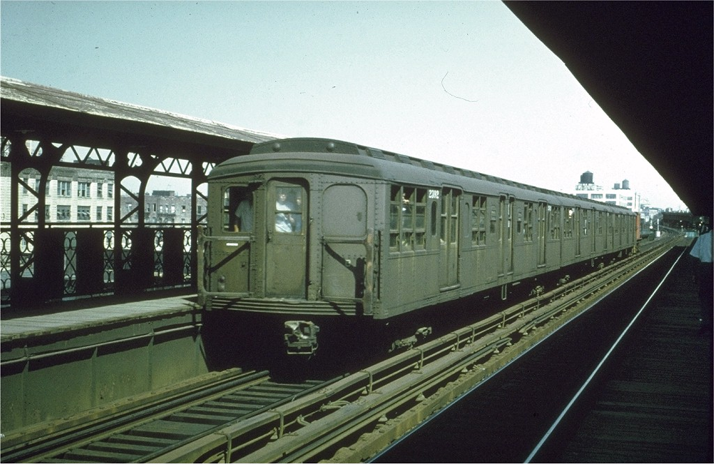 (185k, 1024x665)<br><b>Country:</b> United States<br><b>City:</b> New York<br><b>System:</b> New York City Transit<br><b>Line:</b> BMT Canarsie Line<br><b>Location:</b> Sutter Avenue <br><b>Route:</b> Fan Trip<br><b>Car:</b> BMT A/B-Type Standard 2392 <br><b>Collection of:</b> Joe Testagrose<br><b>Date:</b> 8/23/1969<br><b>Viewed (this week/total):</b> 1 / 3041