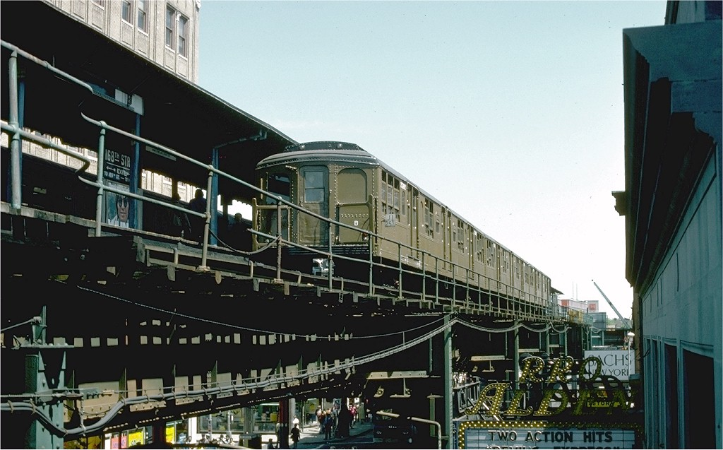(182k, 1024x637)<br><b>Country:</b> United States<br><b>City:</b> New York<br><b>System:</b> New York City Transit<br><b>Line:</b> BMT Nassau Street/Jamaica Line<br><b>Location:</b> 168th Street (Demolished) <br><b>Route:</b> Fan Trip<br><b>Car:</b> BMT A/B-Type Standard 2392 <br><b>Collection of:</b> Joe Testagrose<br><b>Date:</b> 4/30/1977<br><b>Viewed (this week/total):</b> 6 / 7963
