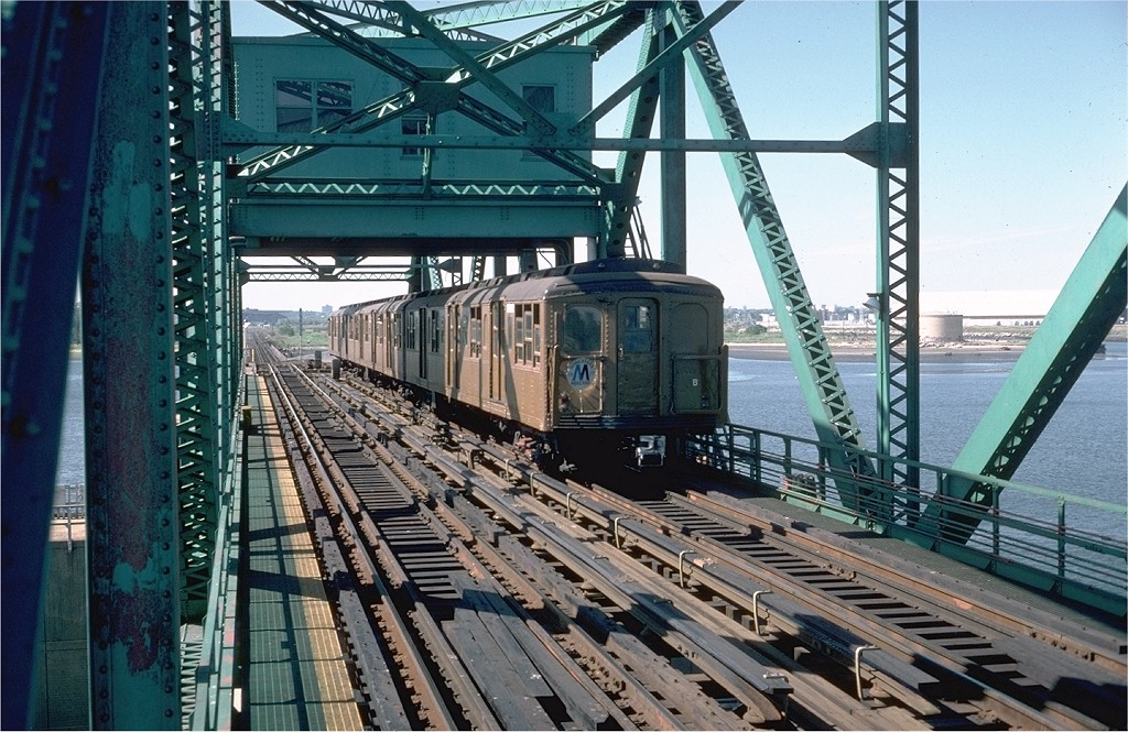 (242k, 1024x665)<br><b>Country:</b> United States<br><b>City:</b> New York<br><b>System:</b> New York City Transit<br><b>Line:</b> IND Rockaway<br><b>Location:</b> North Channel Bridge <br><b>Route:</b> Fan Trip<br><b>Car:</b> BMT A/B-Type Standard 2392 <br><b>Photo by:</b> Steve Zabel<br><b>Collection of:</b> Joe Testagrose<br><b>Date:</b> 6/4/1977<br><b>Viewed (this week/total):</b> 0 / 4188