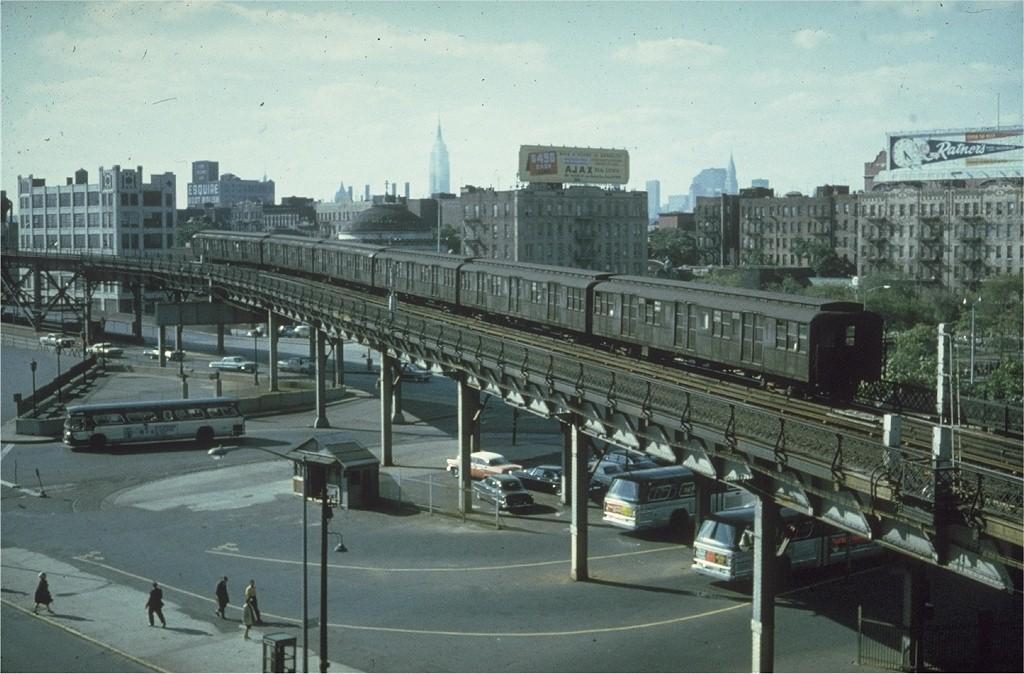 (193k, 1024x674)<br><b>Country:</b> United States<br><b>City:</b> New York<br><b>System:</b> New York City Transit<br><b>Line:</b> BMT Nassau Street/Jamaica Line<br><b>Location:</b> Marcy Avenue <br><b>Car:</b> BMT A/B-Type Standard  <br><b>Collection of:</b> Joe Testagrose<br><b>Date:</b> 6/1963<br><b>Viewed (this week/total):</b> 1 / 4588
