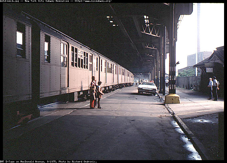 (102k, 772x556)<br><b>Country:</b> United States<br><b>City:</b> New York<br><b>System:</b> New York City Transit<br><b>Line:</b> South Brooklyn Railway<br><b>Location:</b> McDonald/Ave X (SBK)<br><b>Route:</b> Fan Trip<br><b>Car:</b> BMT D-Type Triplex  <br><b>Photo by:</b> Richard Ondrovic<br><b>Date:</b> 9/20/1975<br><b>Viewed (this week/total):</b> 2 / 4672