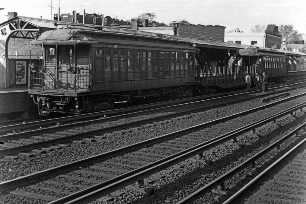 (280k, 1024x683)<br><b>Country:</b> United States<br><b>City:</b> New York<br><b>System:</b> New York City Transit<br><b>Line:</b> BMT Brighton Line<br><b>Location:</b> Avenue J <br><b>Car:</b> BMT Elevated Gate Car 1309 <br><b>Collection of:</b> David Pirmann<br><b>Viewed (this week/total):</b> 4 / 3075