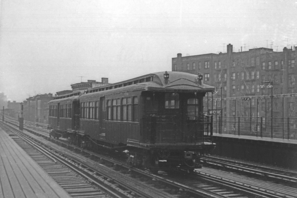 (192k, 1024x683)<br><b>Country:</b> United States<br><b>City:</b> New York<br><b>System:</b> New York City Transit<br><b>Line:</b> BMT Nassau Street/Jamaica Line<br><b>Location:</b> Marcy Avenue <br><b>Car:</b> BMT Elevated Gate Car 723 <br><b>Collection of:</b> David Pirmann<br><b>Viewed (this week/total):</b> 3 / 3310