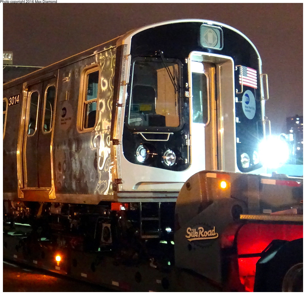 (413k, 1044x1008)<br><b>Country:</b> United States<br><b>City:</b> New York<br><b>System:</b> New York City Transit<br><b>Location:</b> 207th Street Yard<br><b>Car:</b> R-179 (Bombardier, 2016-) 3014 <br><b>Photo by:</b> Max Diamond<br><b>Date:</b> 9/6/2016<br><b>Notes:</b> First R-179 delivery<br><b>Viewed (this week/total):</b> 1 / 1537
