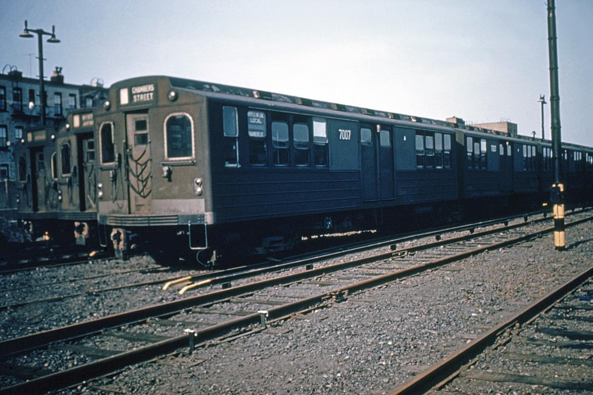 (400k, 1024x683)<br><b>Country:</b> United States<br><b>City:</b> New York<br><b>System:</b> New York City Transit<br><b>Location:</b> Fresh Pond Yard<br><b>Car:</b> BMT Multi 7007 <br><b>Collection of:</b> David Pirmann<br><b>Viewed (this week/total):</b> 0 / 3416