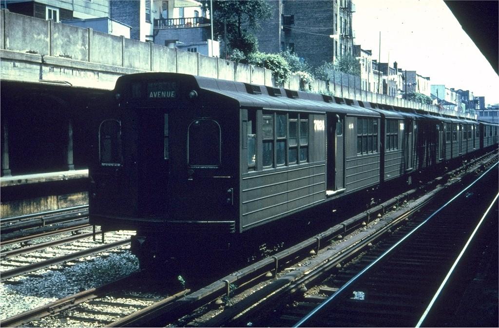 (241k, 1024x673)<br><b>Country:</b> United States<br><b>City:</b> New York<br><b>System:</b> New York City Transit<br><b>Line:</b> BMT Sea Beach Line<br><b>Location:</b> Bay Parkway (22nd Avenue) <br><b>Car:</b> BMT Multi 7024 <br><b>Collection of:</b> Joe Testagrose<br><b>Date:</b> 6/1961<br><b>Viewed (this week/total):</b> 1 / 2822