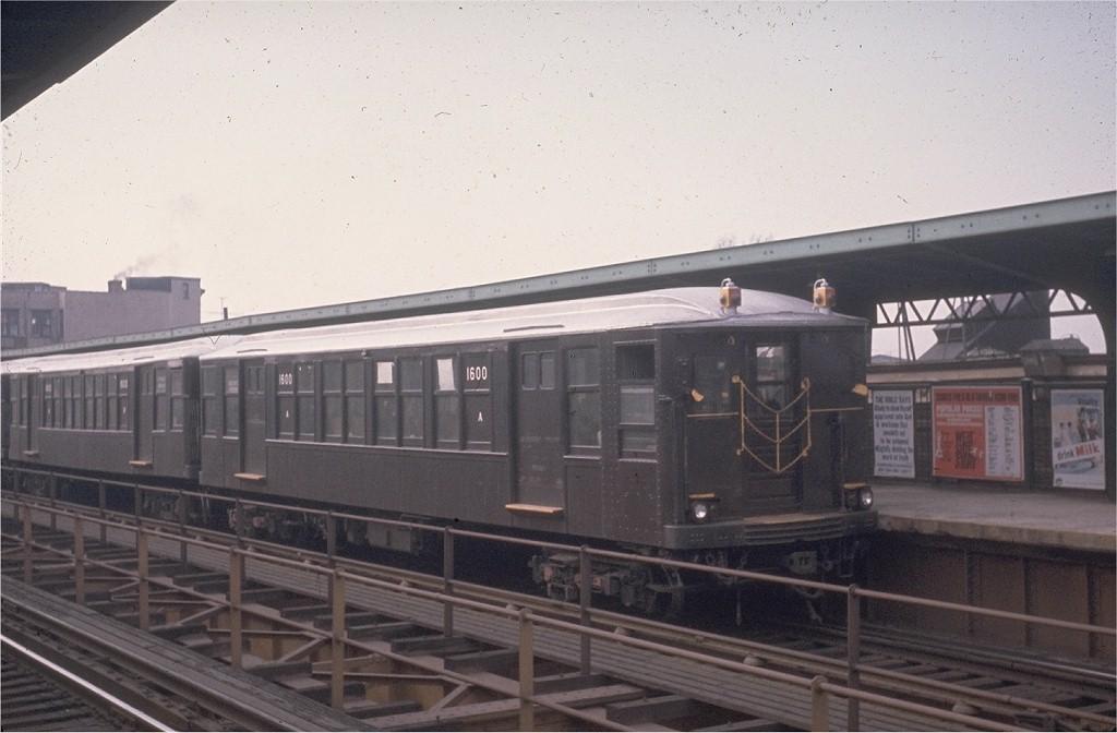 (152k, 1024x672)<br><b>Country:</b> United States<br><b>City:</b> New York<br><b>System:</b> New York City Transit<br><b>Line:</b> BMT Myrtle Avenue Line<br><b>Location:</b> Central Avenue <br><b>Route:</b> MJ<br><b>Car:</b> BMT Q 1600 <br><b>Photo by:</b> Joe Testagrose<br><b>Date:</b> 3/3/1963<br><b>Viewed (this week/total):</b> 0 / 3721