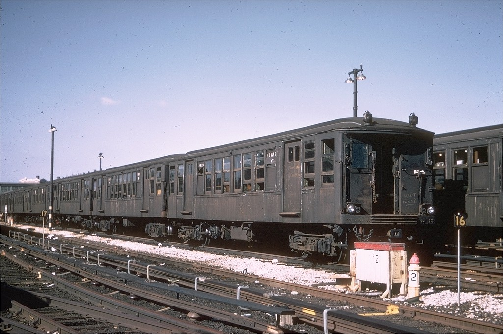 (207k, 1024x680)<br><b>Country:</b> United States<br><b>City:</b> New York<br><b>System:</b> New York City Transit<br><b>Location:</b> Fresh Pond Yard<br><b>Car:</b> BMT Q 1619 <br><b>Photo by:</b> Joe Testagrose<br><b>Date:</b> 10/4/1969<br><b>Viewed (this week/total):</b> 0 / 4074