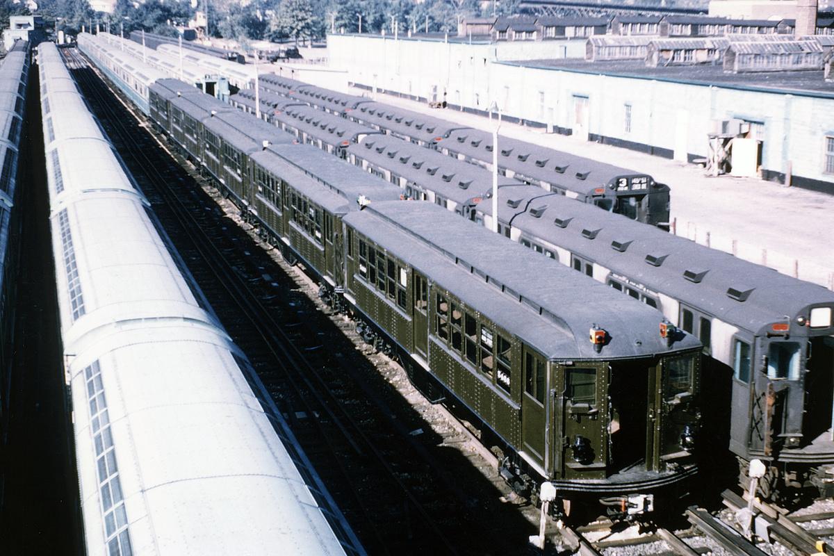 (412k, 1044x668)<br><b>Country:</b> United States<br><b>City:</b> New York<br><b>System:</b> New York City Transit<br><b>Location:</b> Corona Yard<br><b>Car:</b> Low-V (Museum Train) 5466 <br><b>Collection of:</b> David Pirmann<br><b>Viewed (this week/total):</b> 0 / 3016