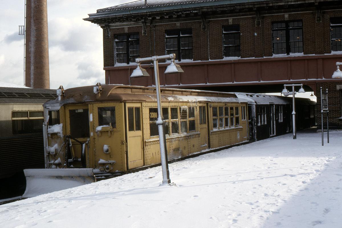 (388k, 1044x708)<br><b>Country:</b> United States<br><b>City:</b> New York<br><b>System:</b> New York City Transit<br><b>Location:</b> Coney Island/Stillwell Avenue<br><b>Car:</b> Snow Plow (Low-V Converted) 30188 (ex-4785)<br><b>Photo by:</b> Doug Grotjahn<br><b>Collection of:</b> David Pirmann<br><b>Date:</b> 12/15/1968<br><b>Notes:</b> Snowplow<br><b>Viewed (this week/total):</b> 2 / 6058