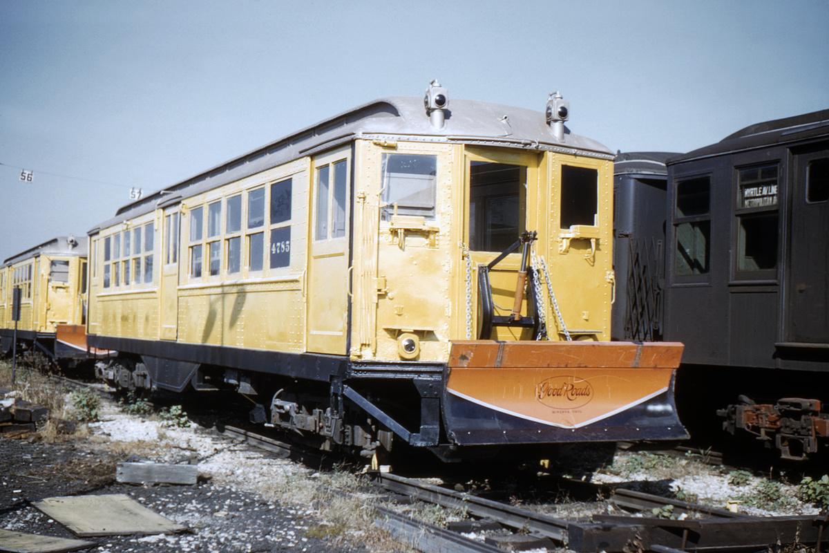 (339k, 1024x683)<br><b>Country:</b> United States<br><b>City:</b> New York<br><b>System:</b> New York City Transit<br><b>Location:</b> Coney Island Yard<br><b>Car:</b> Snow Plow (Low-V Converted) 30188 (ex-4785)<br><b>Collection of:</b> David Pirmann<br><b>Date:</b> 11/4/1961<br><b>Notes:</b> Snowplow<br><b>Viewed (this week/total):</b> 2 / 4737