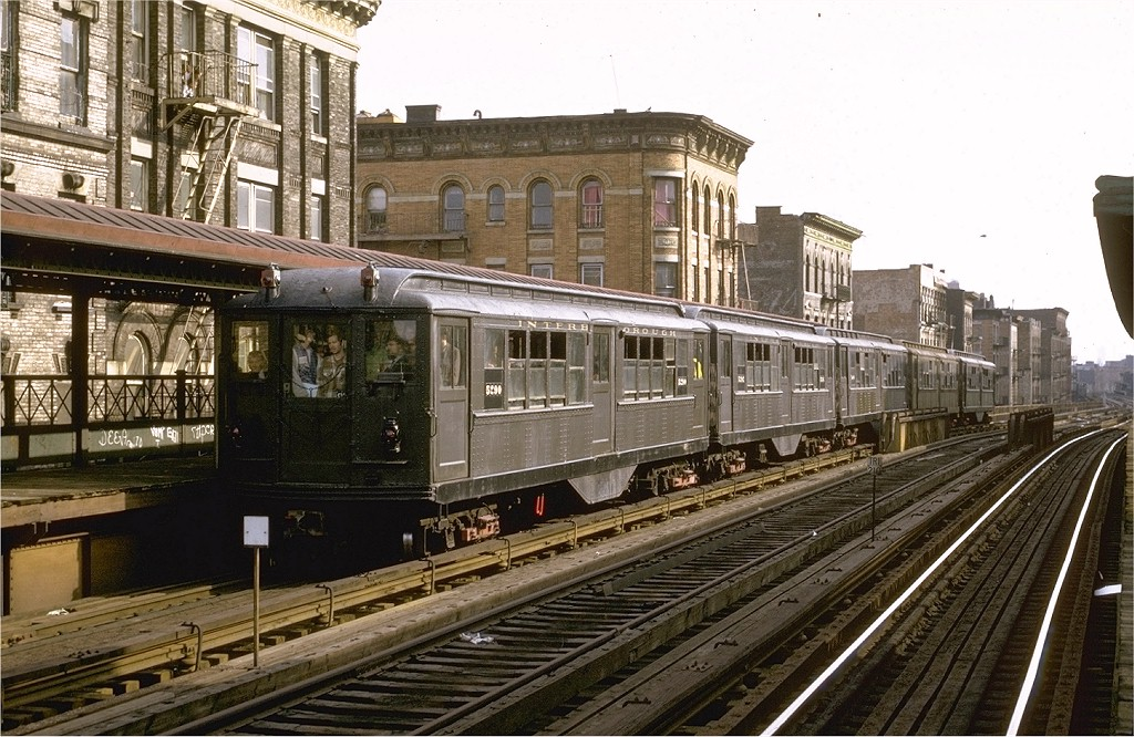 (238k, 1024x666)<br><b>Country:</b> United States<br><b>City:</b> New York<br><b>System:</b> New York City Transit<br><b>Line:</b> 3rd Avenue El<br><b>Location:</b> Claremont Parkway <br><b>Route:</b> Fan Trip<br><b>Car:</b> Low-V (Museum Train) 5290 <br><b>Photo by:</b> Joe Testagrose<br><b>Date:</b> 4/29/1973<br><b>Notes:</b> Fantrip held day after closure of 3rd Avenue El<br><b>Viewed (this week/total):</b> 0 / 5202