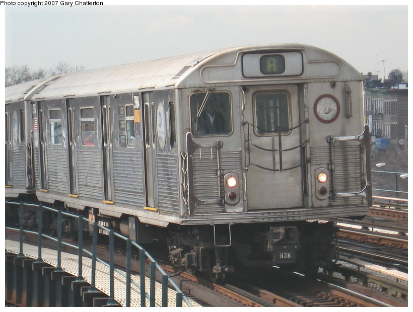 (112k, 820x620)<br><b>Country:</b> United States<br><b>City:</b> New York<br><b>System:</b> New York City Transit<br><b>Line:</b> IND Fulton Street Line<br><b>Location:</b> 80th Street/Hudson Street <br><b>Route:</b> A<br><b>Car:</b> R-38 (St. Louis, 1966-1967)  3984 <br><b>Photo by:</b> Gary Chatterton<br><b>Date:</b> 2/27/2007<br><b>Viewed (this week/total):</b> 0 / 2488