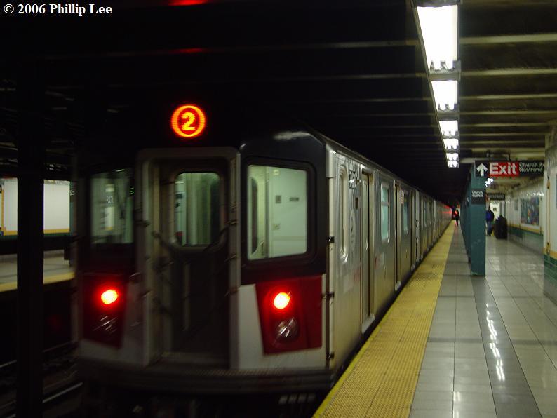 (51k, 794x596)<br><b>Country:</b> United States<br><b>City:</b> New York<br><b>System:</b> New York City Transit<br><b>Line:</b> IRT Brooklyn Line<br><b>Location:</b> Church Avenue <br><b>Route:</b> 2<br><b>Car:</b> R-142A (Primary Order, Kawasaki, 1999-2002)  7420 <br><b>Photo by:</b> Phillip Lee<br><b>Date:</b> 11/1/2006<br><b>Viewed (this week/total):</b> 2 / 5212