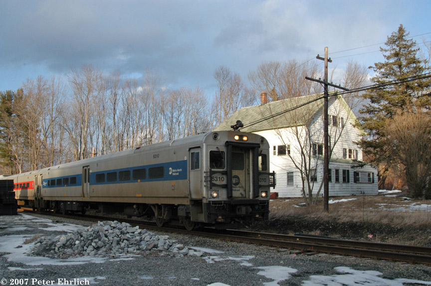 (207k, 864x574)<br><b>Country:</b> United States<br><b>System:</b> Metro-North Railroad (or Amtrak or Predecessor RR)<br><b>Line:</b> Metro North-Harlem Line<br><b>Location:</b> Dykemanns <br><b>Car:</b> MNRR/CDOT Shoreliner (Bombardier) 6310 <br><b>Photo by:</b> Peter Ehrlich<br><b>Date:</b> 3/5/2007<br><b>Notes:</b> Dykemans (State Route 312).  Was site of a station which was closed in 1968.<br><b>Viewed (this week/total):</b> 3 / 2093