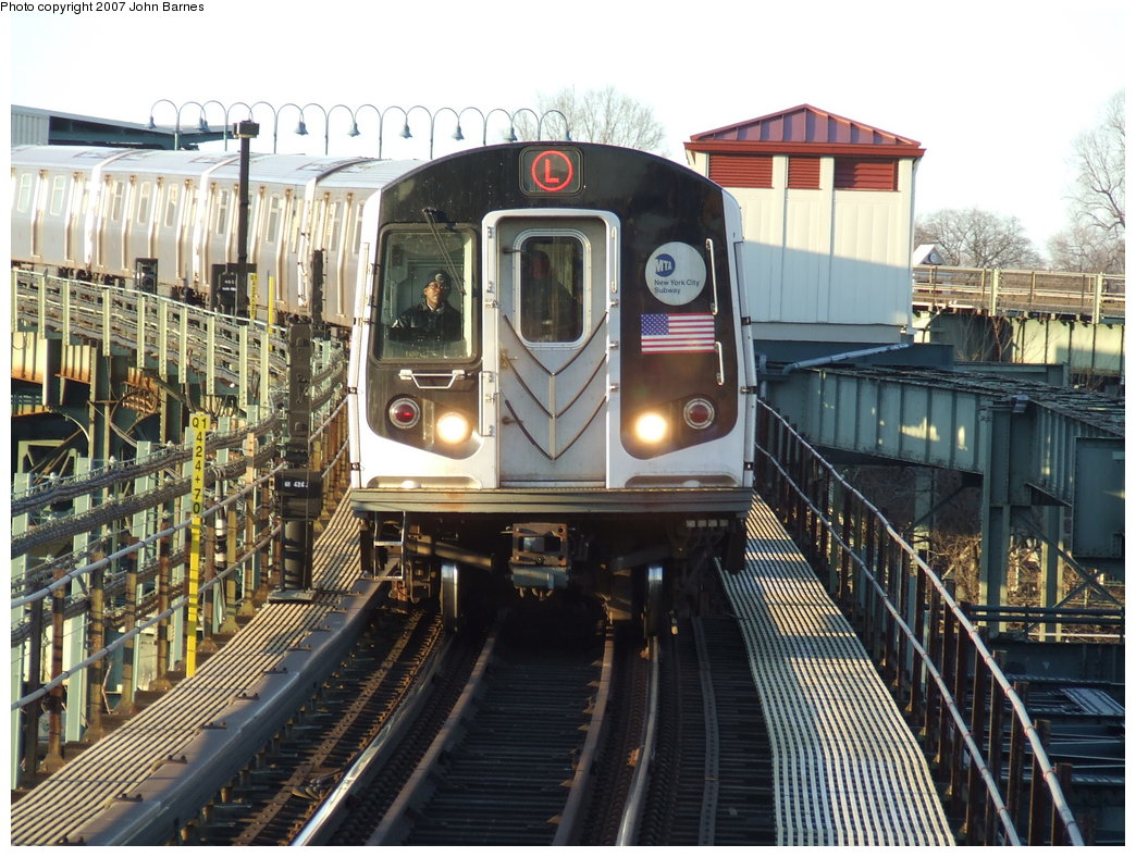 (224k, 1044x788)<br><b>Country:</b> United States<br><b>City:</b> New York<br><b>System:</b> New York City Transit<br><b>Line:</b> BMT Canarsie Line<br><b>Location:</b> Atlantic Avenue <br><b>Route:</b> L<br><b>Car:</b> R-143 (Kawasaki, 2001-2002) 8149 <br><b>Photo by:</b> John Barnes<br><b>Date:</b> 3/8/2007<br><b>Viewed (this week/total):</b> 2 / 2647