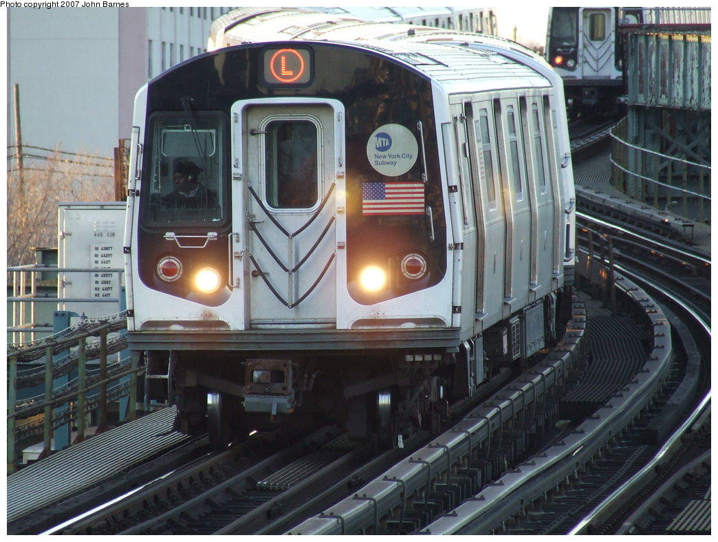 (197k, 1044x788)<br><b>Country:</b> United States<br><b>City:</b> New York<br><b>System:</b> New York City Transit<br><b>Line:</b> BMT Canarsie Line<br><b>Location:</b> Sutter Avenue <br><b>Route:</b> L<br><b>Car:</b> R-143 (Kawasaki, 2001-2002) 8229 <br><b>Photo by:</b> John Barnes<br><b>Date:</b> 3/8/2007<br><b>Viewed (this week/total):</b> 0 / 2996