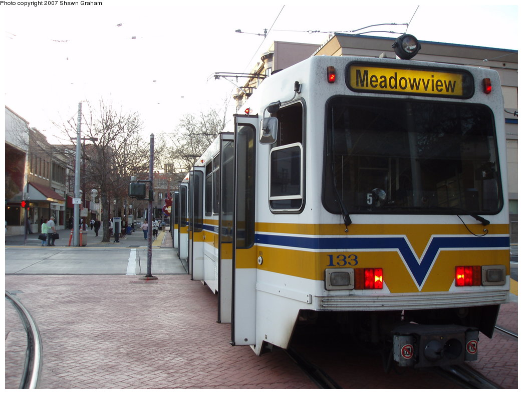 (176k, 1044x788)<br><b>Country:</b> United States<br><b>City:</b> Sacramento, CA<br><b>System:</b> SACRT Light Rail<br><b>Location:</b> 7th & K <br><b>Car:</b> Sacramento Siemens LRV  133 <br><b>Photo by:</b> Shawn Graham<br><b>Date:</b> 3/8/2007<br><b>Viewed (this week/total):</b> 2 / 1138
