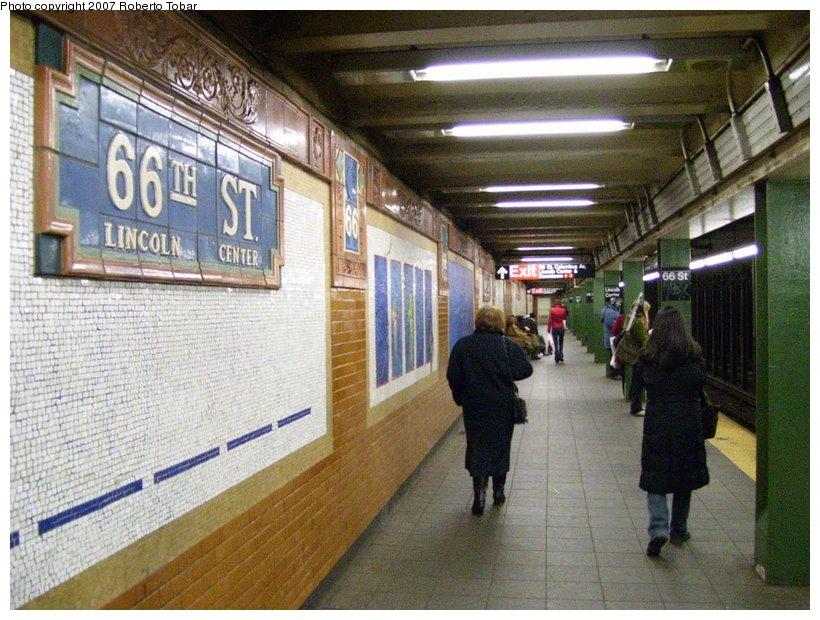 (136k, 820x620)<br><b>Country:</b> United States<br><b>City:</b> New York<br><b>System:</b> New York City Transit<br><b>Line:</b> IRT West Side Line<br><b>Location:</b> 66th Street/Lincoln Center <br><b>Photo by:</b> Roberto C. Tobar<br><b>Date:</b> 3/18/2007<br><b>Viewed (this week/total):</b> 7 / 3243