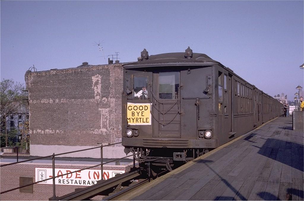 (194k, 1024x679)<br><b>Country:</b> United States<br><b>City:</b> New York<br><b>System:</b> New York City Transit<br><b>Line:</b> BMT Myrtle Avenue Line<br><b>Location:</b> Washington Avenue <br><b>Route:</b> Fan Trip<br><b>Car:</b> BMT Q 1629ABC <br><b>Photo by:</b> Doug Grotjahn<br><b>Collection of:</b> Joe Testagrose<br><b>Date:</b> 10/5/1969<br><b>Viewed (this week/total):</b> 3 / 4457