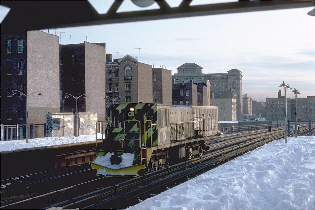 (197k, 1024x683)<br><b>Country:</b> United States<br><b>City:</b> New York<br><b>System:</b> New York City Transit<br><b>Line:</b> IRT Woodlawn Line<br><b>Location:</b> 170th Street <br><b>Route:</b> Work Service<br><b>Car:</b> R-52 Locomotive  74 <br><b>Photo by:</b> Steve Zabel<br><b>Collection of:</b> Joe Testagrose<br><b>Date:</b> 2/12/1983<br><b>Viewed (this week/total):</b> 0 / 3031
