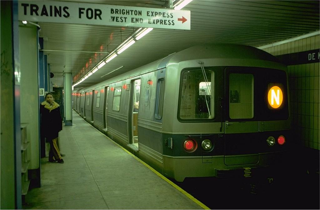 (153k, 1024x671)<br><b>Country:</b> United States<br><b>City:</b> New York<br><b>System:</b> New York City Transit<br><b>Location:</b> DeKalb Avenue<br><b>Route:</b> N<br><b>Car:</b> R-46 (Pullman-Standard, 1974-75) 796 <br><b>Photo by:</b> Doug Grotjahn<br><b>Collection of:</b> Joe Testagrose<br><b>Date:</b> 1/4/1977<br><b>Viewed (this week/total):</b> 2 / 4239