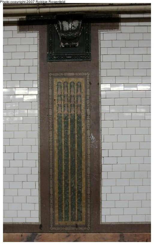 (88k, 514x820)<br><b>Country:</b> United States<br><b>City:</b> New York<br><b>System:</b> New York City Transit<br><b>Line:</b> IRT East Side Line<br><b>Location:</b> 23rd Street <br><b>Photo by:</b> Robbie Rosenfeld<br><b>Date:</b> 2/11/2007<br><b>Notes:</b> Mosaic on platform wall.<br><b>Viewed (this week/total):</b> 3 / 1878