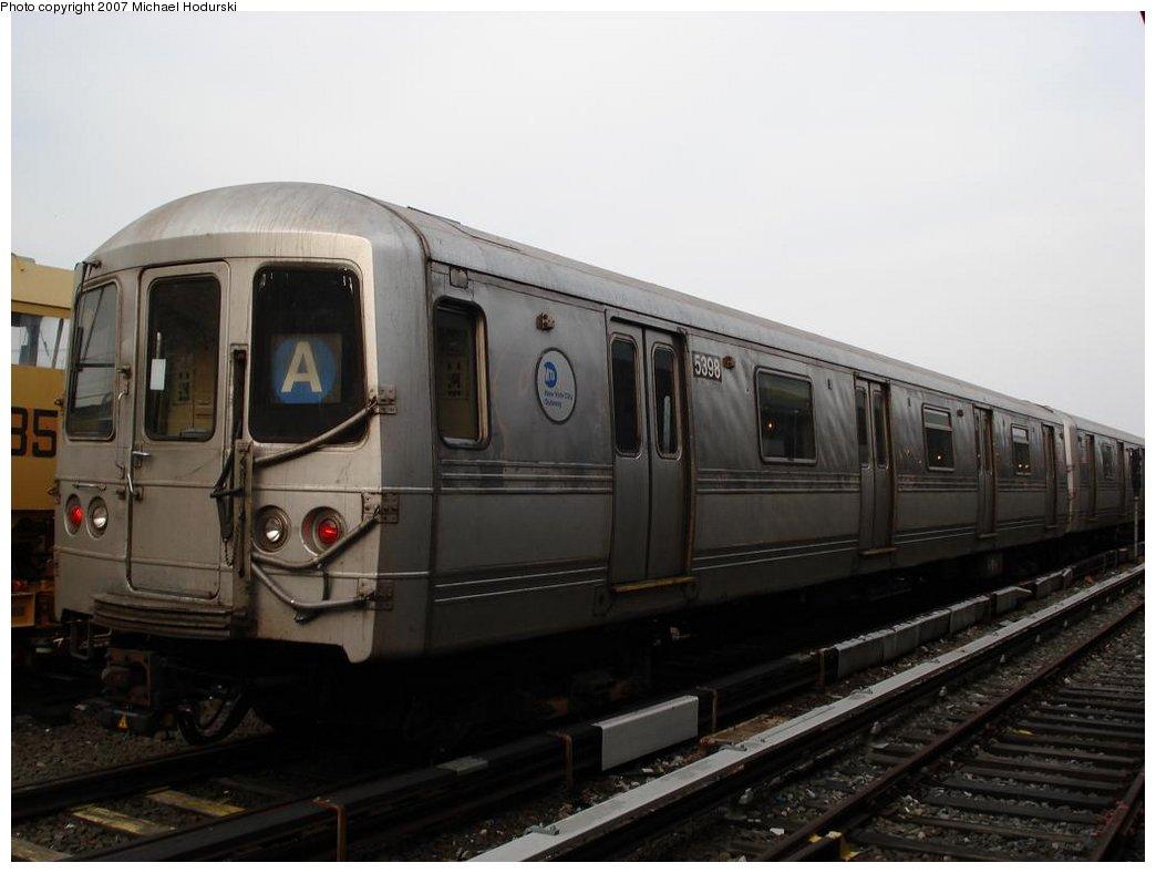 (120k, 1044x788)<br><b>Country:</b> United States<br><b>City:</b> New York<br><b>System:</b> New York City Transit<br><b>Location:</b> Rockaway Park Yard<br><b>Car:</b> R-44 (St. Louis, 1971-73) 5398 <br><b>Photo by:</b> Michael Hodurski<br><b>Date:</b> 3/10/2007<br><b>Viewed (this week/total):</b> 1 / 2119