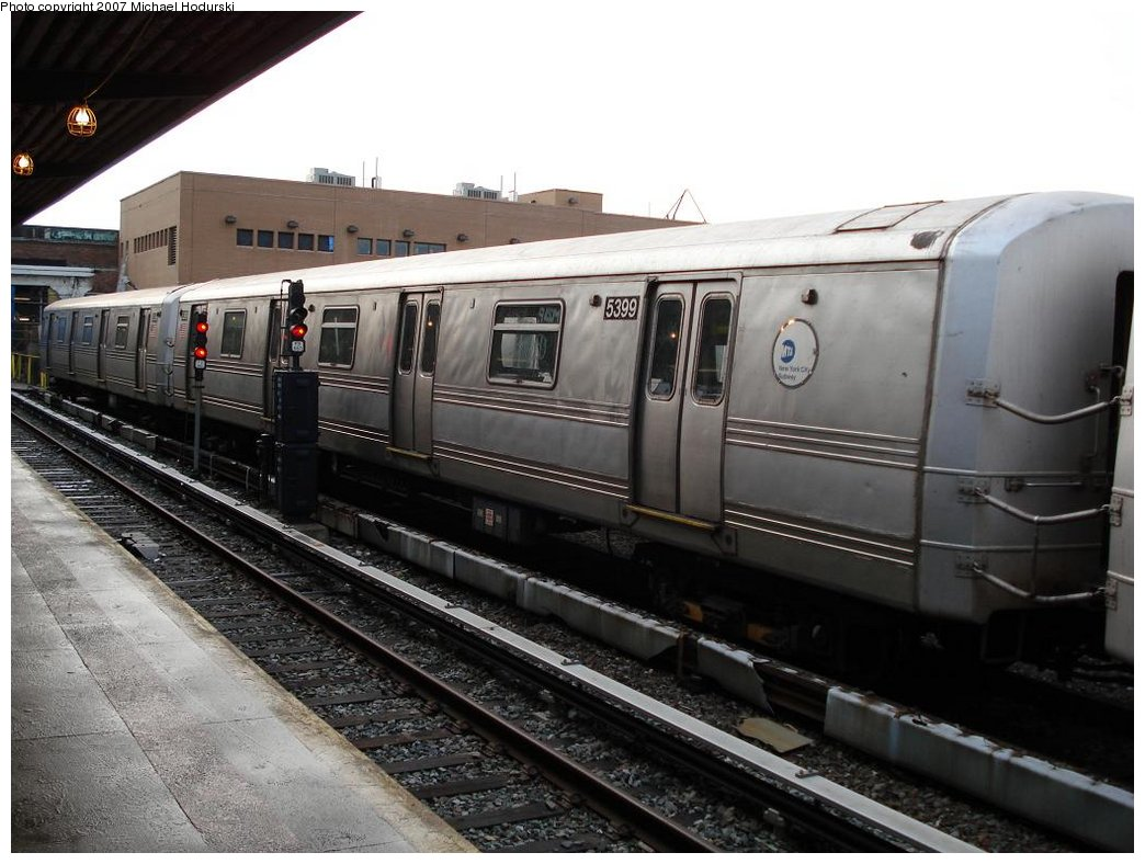 (165k, 1044x788)<br><b>Country:</b> United States<br><b>City:</b> New York<br><b>System:</b> New York City Transit<br><b>Location:</b> Rockaway Park Yard<br><b>Car:</b> R-44 (St. Louis, 1971-73) 5399 <br><b>Photo by:</b> Michael Hodurski<br><b>Date:</b> 3/10/2007<br><b>Viewed (this week/total):</b> 0 / 1736