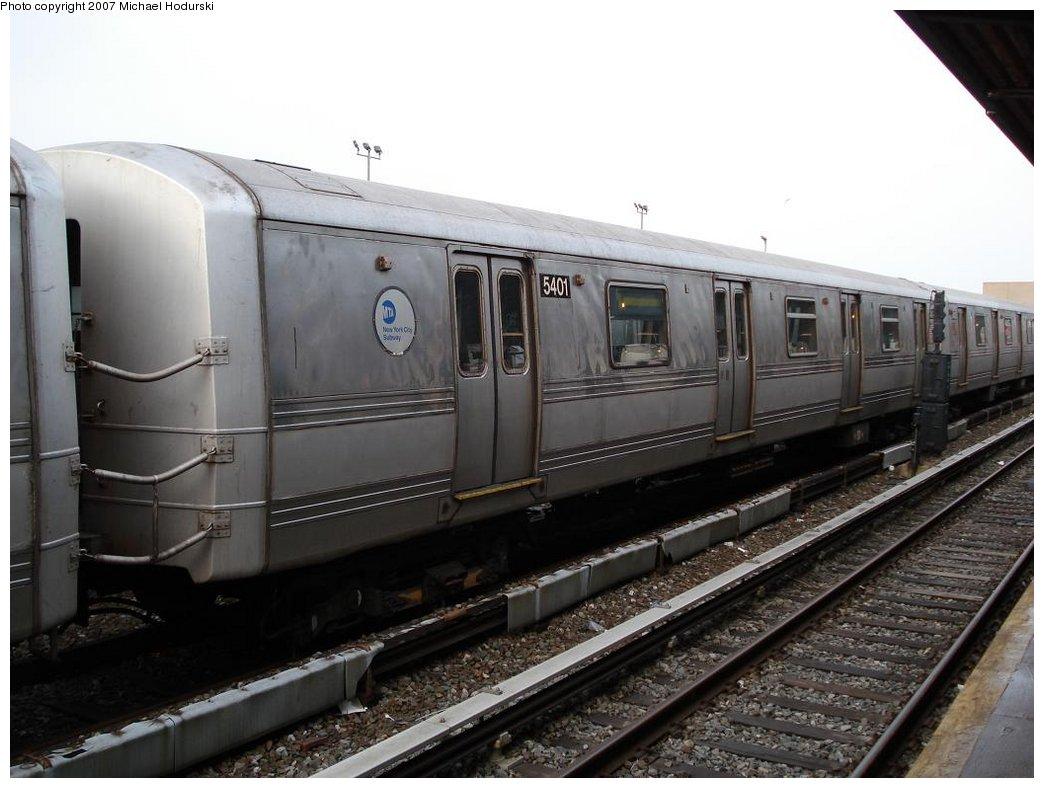 (149k, 1044x788)<br><b>Country:</b> United States<br><b>City:</b> New York<br><b>System:</b> New York City Transit<br><b>Location:</b> Rockaway Park Yard<br><b>Car:</b> R-44 (St. Louis, 1971-73) 5401 <br><b>Photo by:</b> Michael Hodurski<br><b>Date:</b> 3/10/2007<br><b>Viewed (this week/total):</b> 0 / 2237