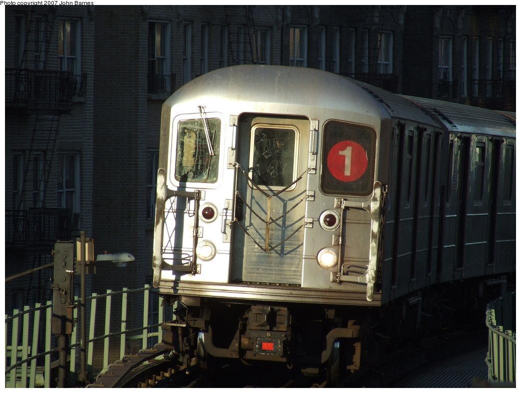(160k, 1044x788)<br><b>Country:</b> United States<br><b>City:</b> New York<br><b>System:</b> New York City Transit<br><b>Line:</b> IRT West Side Line<br><b>Location:</b> Dyckman Street<br><b>Route:</b> 1<br><b>Car:</b> R-62A (Bombardier, 1984-1987) 2276 <br><b>Photo by:</b> John Barnes<br><b>Date:</b> 3/20/2007<br><b>Viewed (this week/total):</b> 0 / 2058