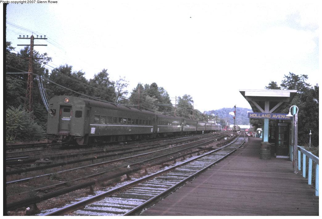 (121k, 1044x710)<br><b>Country:</b> United States<br><b>System:</b> Metro-North Railroad (or Amtrak or Predecessor RR)<br><b>Line:</b> Metro North-Harlem Line<br><b>Location:</b> Holland Ave. (Abandoned) <br><b>Car:</b> MNRR ACMU  <br><b>Photo by:</b> Steve Zabel<br><b>Collection of:</b> Glenn L. Rowe<br><b>Date:</b> 9/19/1970<br><b>Viewed (this week/total):</b> 0 / 2900