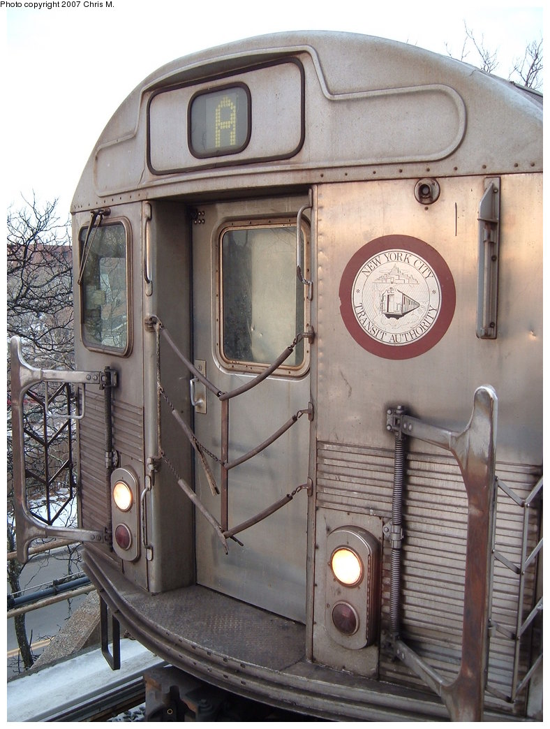 (197k, 788x1044)<br><b>Country:</b> United States<br><b>City:</b> New York<br><b>System:</b> New York City Transit<br><b>Line:</b> IND Rockaway<br><b>Location:</b> Mott Avenue/Far Rockaway <br><b>Route:</b> A<br><b>Car:</b> R-38 (St. Louis, 1966-1967)   <br><b>Photo by:</b> Chris M.<br><b>Date:</b> 2/20/2007<br><b>Viewed (this week/total):</b> 0 / 1873