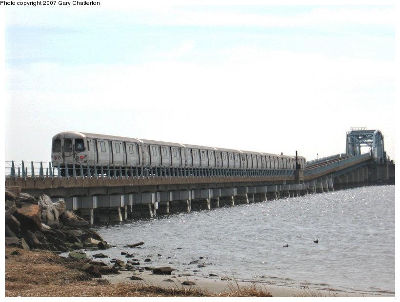 (86k, 820x620)<br><b>Country:</b> United States<br><b>City:</b> New York<br><b>System:</b> New York City Transit<br><b>Line:</b> IND Rockaway<br><b>Location:</b> Jamaica Bay Crossing<br><b>Route:</b> A<br><b>Car:</b> R-44 (St. Louis, 1971-73) 5348 <br><b>Photo by:</b> Gary Chatterton<br><b>Date:</b> 3/27/2007<br><b>Viewed (this week/total):</b> 1 / 2453