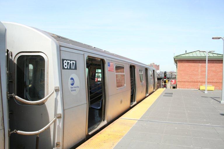 (54k, 768x512)<br><b>Country:</b> United States<br><b>City:</b> New York<br><b>System:</b> New York City Transit<br><b>Location:</b> Coney Island/Stillwell Avenue<br><b>Route:</b> N<br><b>Car:</b> R-160B (Kawasaki, 2005-2008)  8717 <br><b>Photo by:</b> Neil Feldman<br><b>Date:</b> 3/30/2007<br><b>Viewed (this week/total):</b> 1 / 2224