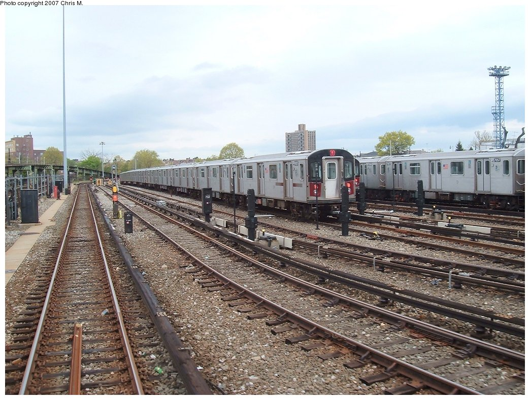 (210k, 1044x788)<br><b>Country:</b> United States<br><b>City:</b> New York<br><b>System:</b> New York City Transit<br><b>Location:</b> Unionport Yard<br><b>Car:</b> R-142 or R-142A (Number Unknown)  <br><b>Photo by:</b> Chris M.<br><b>Date:</b> 5/1/2005<br><b>Viewed (this week/total):</b> 0 / 2845