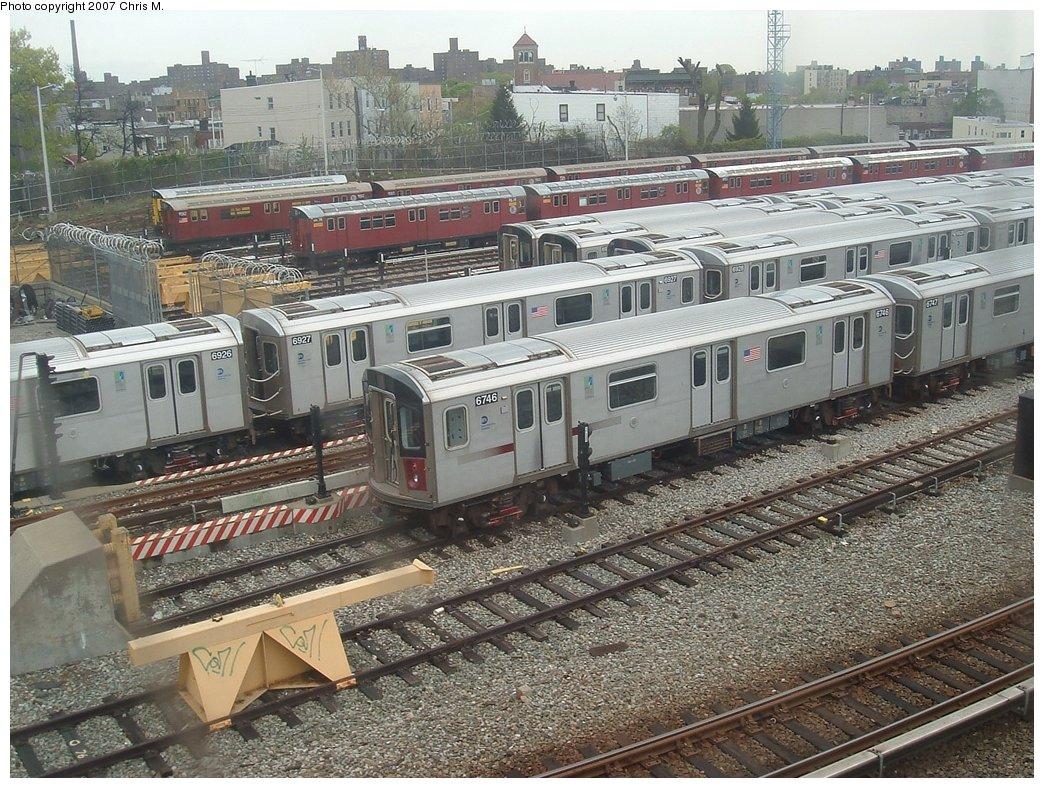 (243k, 1044x788)<br><b>Country:</b> United States<br><b>City:</b> New York<br><b>System:</b> New York City Transit<br><b>Location:</b> Unionport Yard<br><b>Car:</b> R-142 (Primary Order, Bombardier, 1999-2002)  6746 <br><b>Photo by:</b> Chris M.<br><b>Date:</b> 5/1/2005<br><b>Viewed (this week/total):</b> 1 / 2597