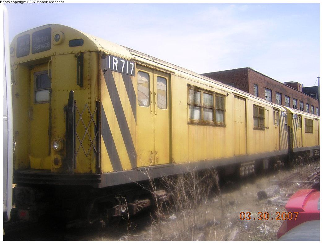 (172k, 1044x788)<br><b>Country:</b> United States<br><b>City:</b> New York<br><b>System:</b> New York City Transit<br><b>Location:</b> 207th Street Yard<br><b>Car:</b> R-95 Locker Car (Revenue Train) 1R717 (ex-7314)<br><b>Photo by:</b> Robert Mencher<br><b>Date:</b> 3/30/2007<br><b>Viewed (this week/total):</b> 0 / 1790