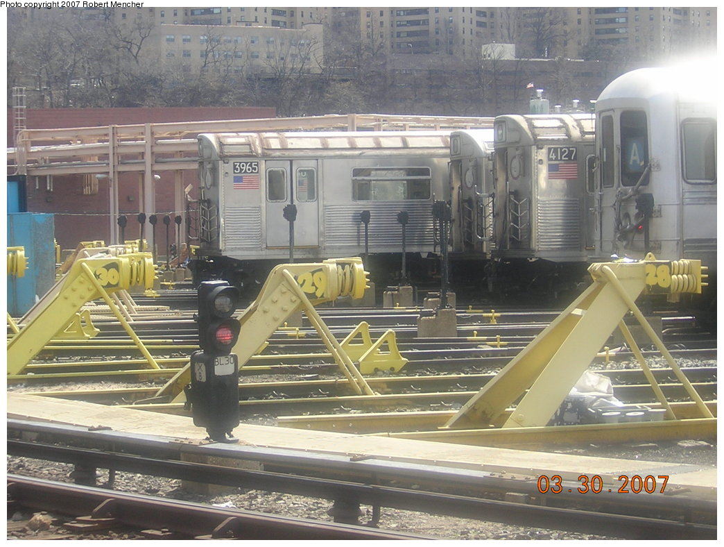 (225k, 1044x788)<br><b>Country:</b> United States<br><b>City:</b> New York<br><b>System:</b> New York City Transit<br><b>Location:</b> 207th Street Yard<br><b>Car:</b> R-38 (St. Louis, 1966-1967)  3965 <br><b>Photo by:</b> Robert Mencher<br><b>Date:</b> 3/30/2007<br><b>Viewed (this week/total):</b> 0 / 2169