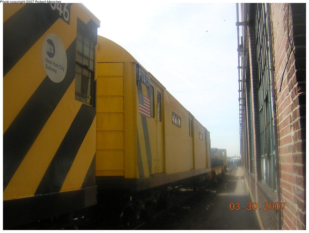 (152k, 1044x788)<br><b>Country:</b> United States<br><b>City:</b> New York<br><b>System:</b> New York City Transit<br><b>Location:</b> 207th Street Yard<br><b>Car:</b> R-71 Pump/Reach Car (R-17/R-21/R-22 Rebuilds) P7413 (ex-7413)<br><b>Photo by:</b> Robert Mencher<br><b>Date:</b> 3/30/2007<br><b>Viewed (this week/total):</b> 0 / 2130