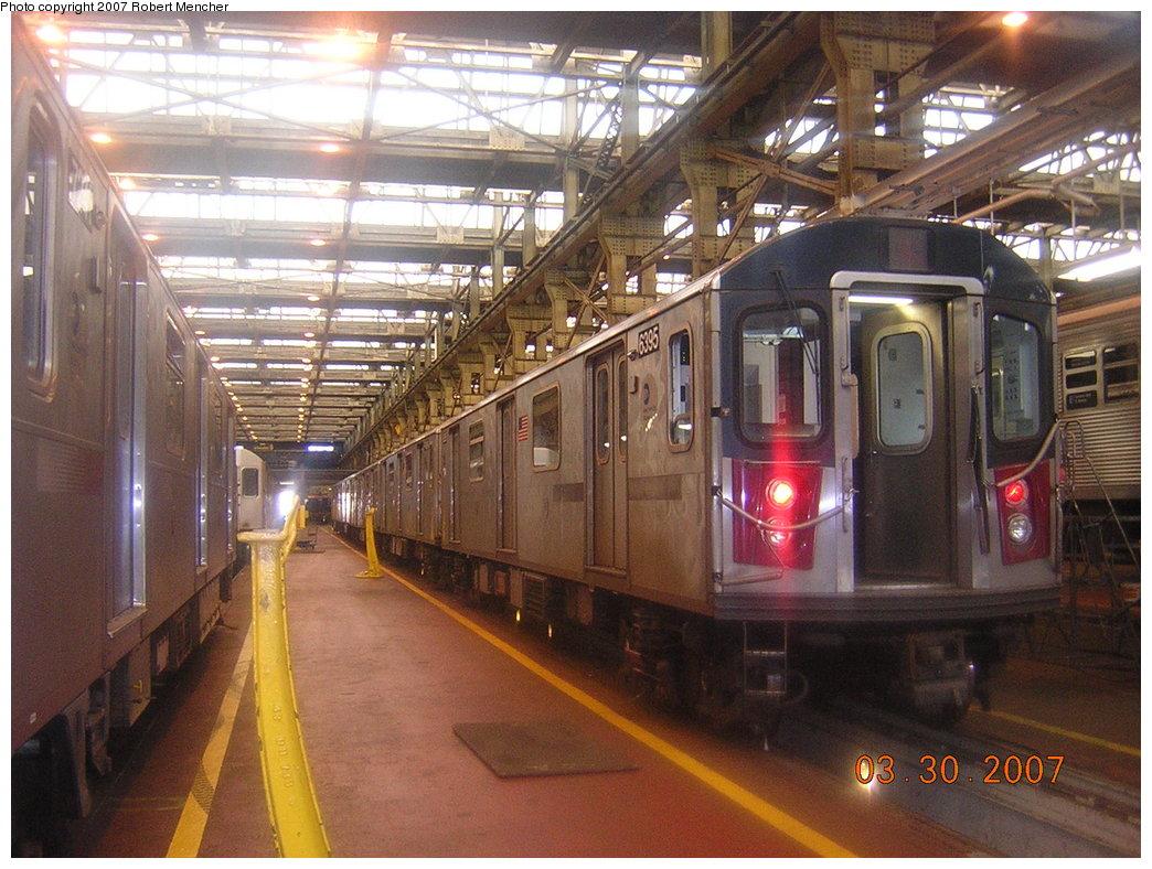 (234k, 1044x788)<br><b>Country:</b> United States<br><b>City:</b> New York<br><b>System:</b> New York City Transit<br><b>Location:</b> 207th Street Shop<br><b>Car:</b> R-142 (Primary Order, Bombardier, 1999-2002)  6395 <br><b>Photo by:</b> Robert Mencher<br><b>Date:</b> 3/30/2007<br><b>Viewed (this week/total):</b> 0 / 2407
