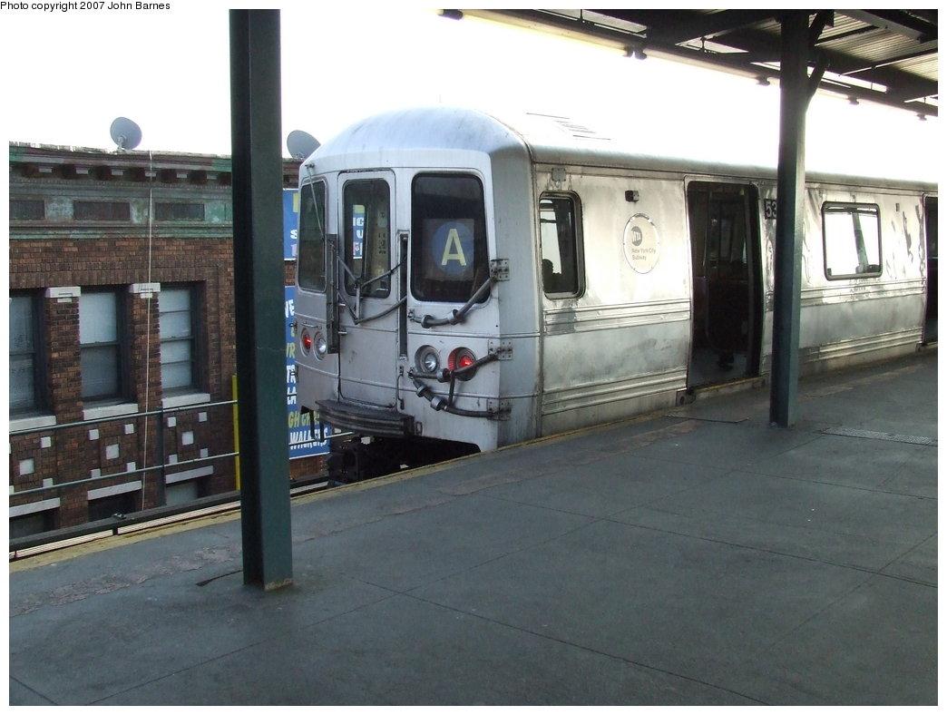 (153k, 1044x788)<br><b>Country:</b> United States<br><b>City:</b> New York<br><b>System:</b> New York City Transit<br><b>Line:</b> IND Fulton Street Line<br><b>Location:</b> Lefferts Boulevard <br><b>Route:</b> A<br><b>Car:</b> R-44 (St. Louis, 1971-73) 5336 <br><b>Photo by:</b> John Barnes<br><b>Date:</b> 4/3/2007<br><b>Viewed (this week/total):</b> 2 / 2294