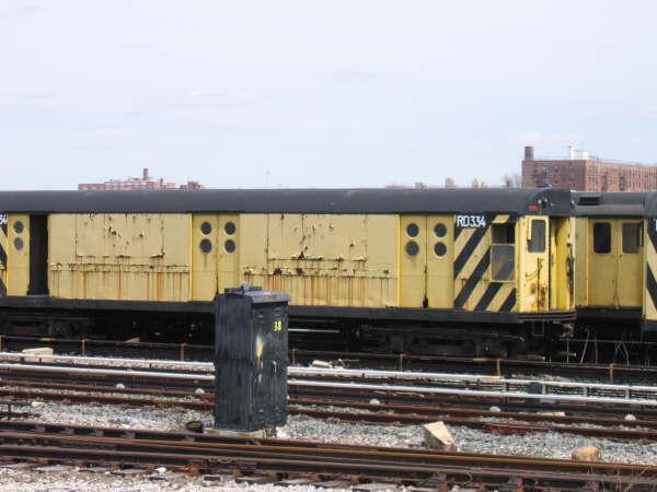 (39k, 600x450)<br><b>Country:</b> United States<br><b>City:</b> New York<br><b>System:</b> New York City Transit<br><b>Location:</b> Coney Island Yard<br><b>Car:</b> R-71 Rider Car (R-17/R-21/R-22 Rebuilds)  RD334 (ex-5984)<br><b>Photo by:</b> Professor J<br><b>Date:</b> 4/14/2007<br><b>Viewed (this week/total):</b> 1 / 1810