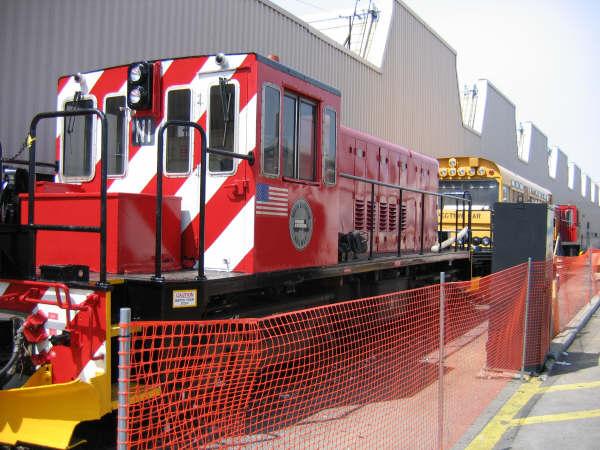 (59k, 600x450)<br><b>Country:</b> United States<br><b>City:</b> New York<br><b>System:</b> New York City Transit<br><b>Location:</b> Coney Island Yard<br><b>Car:</b> R-47 (SBK) Locomotive  N1 <br><b>Photo by:</b> Professor J<br><b>Date:</b> 4/14/2007<br><b>Viewed (this week/total):</b> 0 / 1722