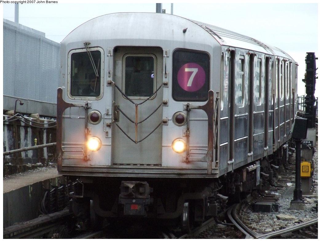 (166k, 1044x788)<br><b>Country:</b> United States<br><b>City:</b> New York<br><b>System:</b> New York City Transit<br><b>Line:</b> IRT Flushing Line<br><b>Location:</b> Hunterspoint Avenue <br><b>Route:</b> 7<br><b>Car:</b> R-62A (Bombardier, 1984-1987)  1811 <br><b>Photo by:</b> John Barnes<br><b>Date:</b> 4/18/2007<br><b>Viewed (this week/total):</b> 1 / 2030