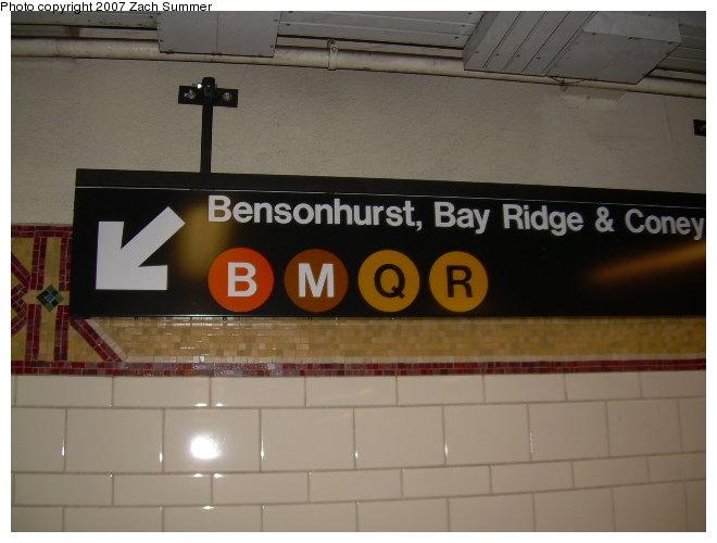 (91k, 660x500)<br><b>Country:</b> United States<br><b>City:</b> New York<br><b>System:</b> New York City Transit<br><b>Location:</b> DeKalb Avenue<br><b>Photo by:</b> Zach Summer<br><b>Date:</b> 8/13/2006<br><b>Notes:</b> Restored mosaic band tile at DeKalb Ave.<br><b>Viewed (this week/total):</b> 2 / 2426