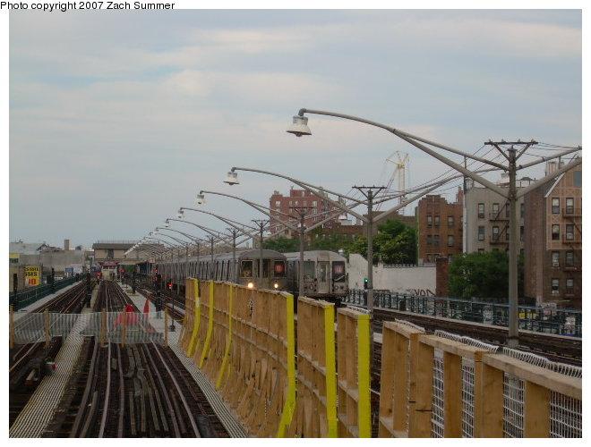 (108k, 660x500)<br><b>Country:</b> United States<br><b>City:</b> New York<br><b>System:</b> New York City Transit<br><b>Line:</b> BMT Brighton Line<br><b>Location:</b> Ocean Parkway <br><b>Photo by:</b> Zach Summer<br><b>Date:</b> 8/22/2006<br><b>Notes:</b> Track rebuild project.<br><b>Viewed (this week/total):</b> 0 / 1410